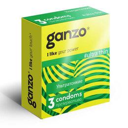 Презервативы - Ультратонкие презервативы Ganzo Ultra thin - 3 шт., 0