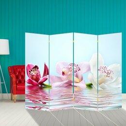 """Ширмы - Ширма """"Орхидеи на воде"""", 200 × 160 см, 0"""