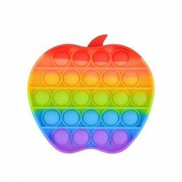 Игрушки-антистресс - Бесконечная пупырка радужное яблоко, 0