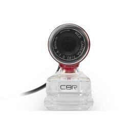 Веб-камеры - Веб-камера CBR CW 830M Red, 0.3 МП, 640х480, USB 2.0, микрофон, красная, 0