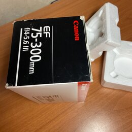 Объективы - Упаковка от объектива canon 75-300 mm, 0