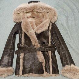 Дубленки - Дубленка женская 44-46 la reine blanche, 0