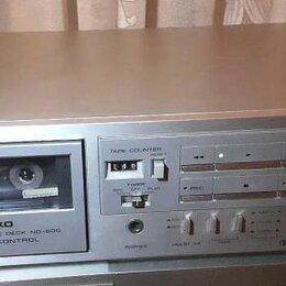Музыкальные центры,  магнитофоны, магнитолы - Кассетная винтажная дека Nikko (made in Japan), цвет серебро, 0