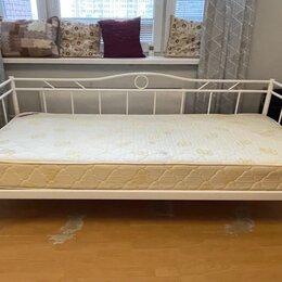 Кровати - Металлическая кровать с матрасом , 0