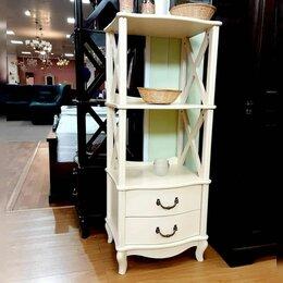 Стеллажи и этажерки - Этажерка Джульетта-2 молочный дуб, 0
