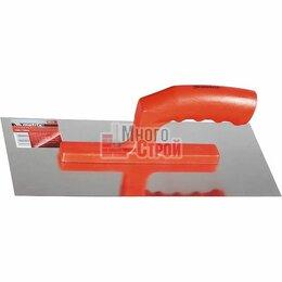 Строительные тёрки - Гладилка из нерж. стали, 280 х 130 мм, зеркальная полировка, пластмас. ручка, 0