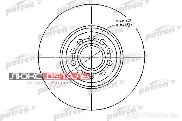 PATRON PBD4262 Диск тормозной передн Audi A4, A6 00-, VW Passat 00-  по цене 2735₽ - Тормозная система , фото 0