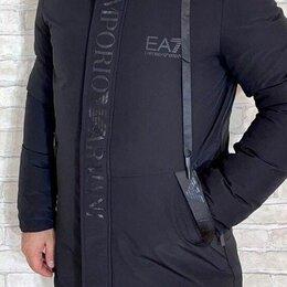 Куртки - Длинная мужская зимняя куртка Emporio Armani р-ры 44-54, 0