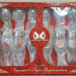 Бокалы и стаканы - Мусатов гусь хрустальный набор 12 предметов 6 фужеров 6 рюмок, 0
