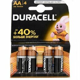 Батарейки - Батарейки Duracell LR6-4BL BASIC 4шт АА, 0