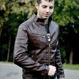 Куртки - Куртка кожзам мужская, 0