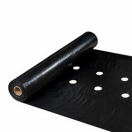 Укрывной материал и пленка - Мульчирующая пленка 1.3х400 метров толщина 60 мкм с перфорацией 25х30 см, 0