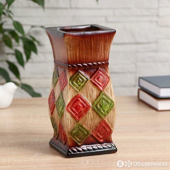 """Ваза керамика настольная """"Руми"""" 8,5х9,5х20 см, микс видов по цене 416₽ - Вазы, фото 0"""