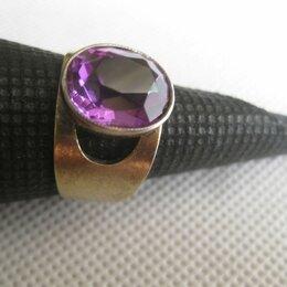 Кольца и перстни - Кольцо перстень с камнем. Серебро 875., 0