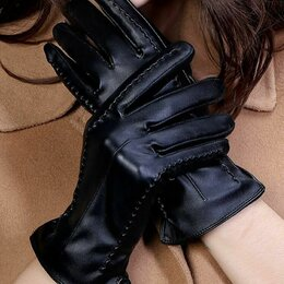Перчатки и варежки - Перчатки женские  кожаные и кожзам, 0