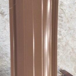 Заборчики, сетки и бордюрные ленты - Штакетник металлический молочный шоколад цвет, 0