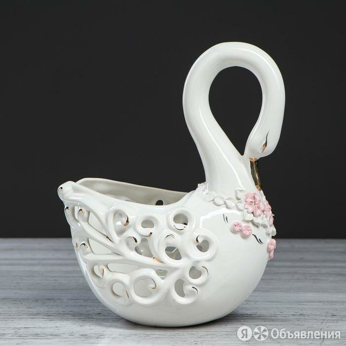 Конфетница 'Лебедь' ажур по цене 1881₽ - Вазы, фото 0