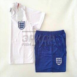 Спортивные костюмы и форма - Форма футбольная England дет корот рукав бело-син (х7), 0