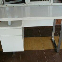Компьютерные и письменные столы - Стол компьютерный бюрократ dl-hg003/white, 0