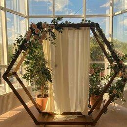Свадебные украшения - Свадебная арка шестиугольник, 0