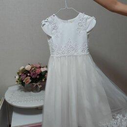 Платья и сарафаны - Белое кружевное платье для девочки, 0