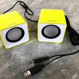 Компьютерная акустика - Колонки Smartbuy Mini 5Вт желтые, 0