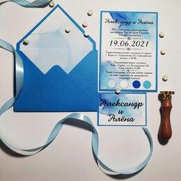 Свадебные украшения - Приглашение на свадьбу в конверте , 0
