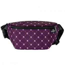 Сумки - Поясная сумка М-801 фиолетовая  лапка, 0