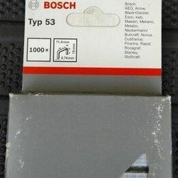 Гвоздескобозабивные пистолеты и степлеры - Плоские скобы для степлера 1000 шт bosch, 0