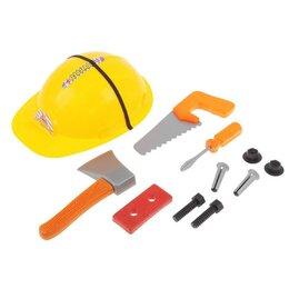 Детские наборы инструментов - Набор инструментов «Юный строитель», с каской, 0