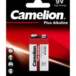 """Батарейки - Элемент питания алкалиновый """"крона"""" LR 6LF22 BL-1 (блист.1шт) Camelion 1655, 0"""