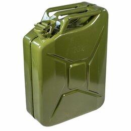 Камины и печи - Канистра 20л стальная для топлива зеленая, 0