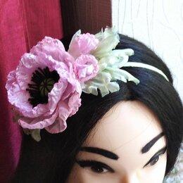 Украшения для девочек - Ободок с цветами Розовый мак, 0