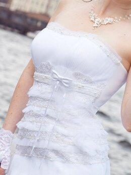 Платья - Свадебное платье с корсетом 44 размер, 0