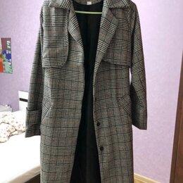 Пальто - пальто женское в клетку, 0