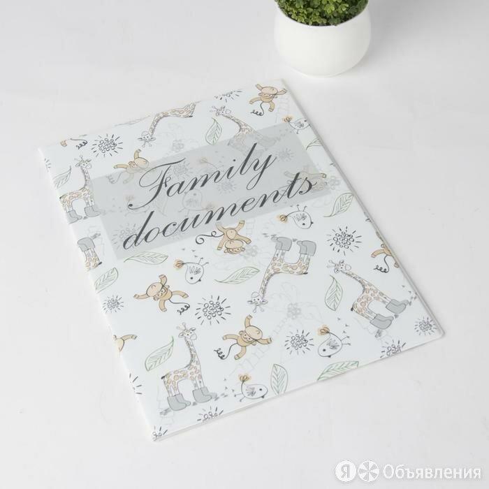 Папка для семейных документов, 1 комплект, цвет белый по цене 594₽ - Обложки для документов, фото 0