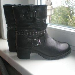 Ботинки - Черные женские ботинки 38 р., 0