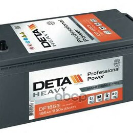 Аккумуляторы и комплектующие - Аккумуляторная Батарея 185ah Deta Professional Power 12 V 185 Ah 1150 A Etn 3..., 0