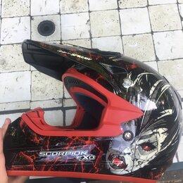 Мотоэкипировка - Шлем Scorpion EXO с подкачкой, 0