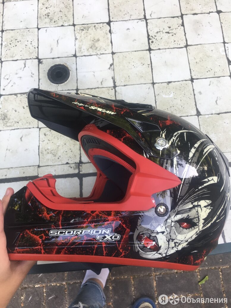 Шлем Scorpion EXO с подкачкой по цене 15000₽ - Мотоэкипировка, фото 0