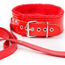 Прочие товары для животных - Bior toys Красный ошейник на поводке с ручкой-петлей, 0