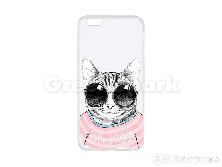 Чехол (накладка) Vixion силиконовый для iPhone 6 Plus/6S Plus Авторитетный кот по цене 290₽ - Чехлы, фото 0