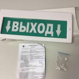 """Сигнализация - Оповещатель охранно-пожарный световой (табло) Молния-220 """"Выход"""", 0"""