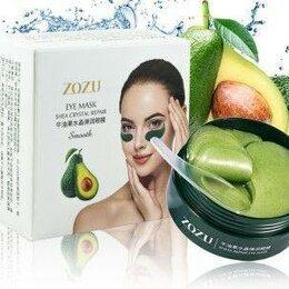 Для глаз - Гидрогелевые патчи для глаз zozu shea crystal smothc экстрактом авокадо 60 шт, 0