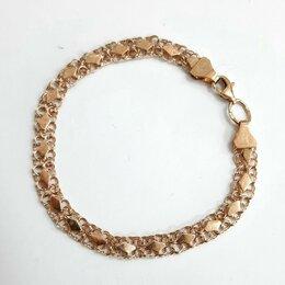 Браслеты - Золотой браслет Черепашка , 18 см, 0