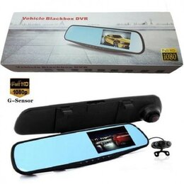 Видеорегистраторы - Зеркало с видеорегистратором Blackbox DVR 2 камеры, 0