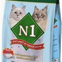 Наполнители для туалетов - N1 Crystals Силикагелевый 12,5л (Подарок в упаковке), 0