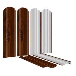 Заборы, ворота и элементы - Штакетник металлический ЭКО-М 95мм Темное Дерево Printech Корея, 0