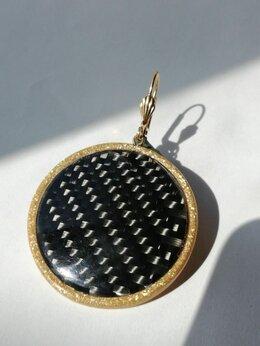 Серьги - Cерьги ручной работы из карбона., 0