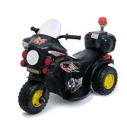 Электромобили - Электромобиль «Мотоцикл шерифа», цвет чёрный, 0